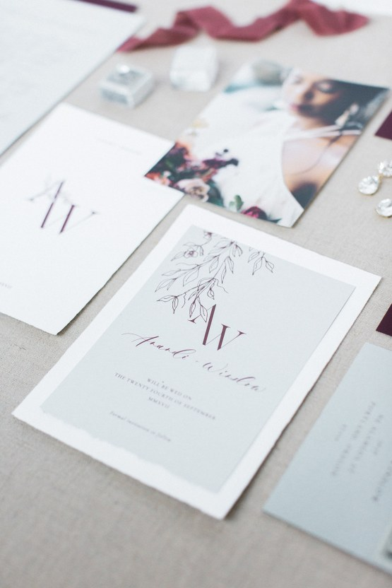 Artistic Burgundy & Fig Beach Wedding Inspiration | Rosencrown Photography 47