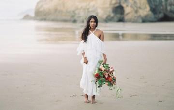 Artistic Burgundy & Fig Beach Wedding Inspiration