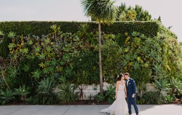 Cool Urban Jungle Los Angeles SmogShoppe Wedding