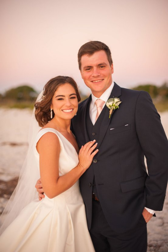 Elegant Pretty Pink Beach Wedding | Stephanie Smith 55