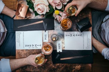 Industrial Copper Cocktail Bar Groom Inspiration | Joasis Photography | ByChenai 14