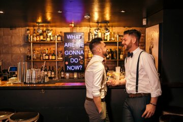 Industrial Copper Cocktail Bar Groom Inspiration | Joasis Photography | ByChenai 16