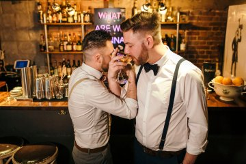 Industrial Copper Cocktail Bar Groom Inspiration | Joasis Photography | ByChenai 18