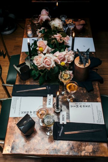 Industrial Copper Cocktail Bar Groom Inspiration | Joasis Photography | ByChenai 37