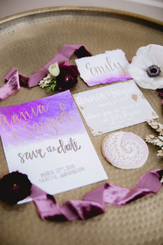Multicultural Purple and Gold Bollywood Wedding Inspiration – Willow and Ivy Events – Zainab Rikabi 17