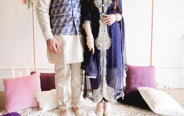 Modern Purple & Gold Bollywood Wedding Inspiration