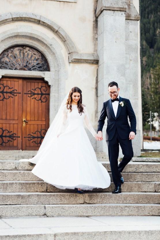 Charming Chamonix Winter Wedding With A Fur Coat – Katie Mitchell 17