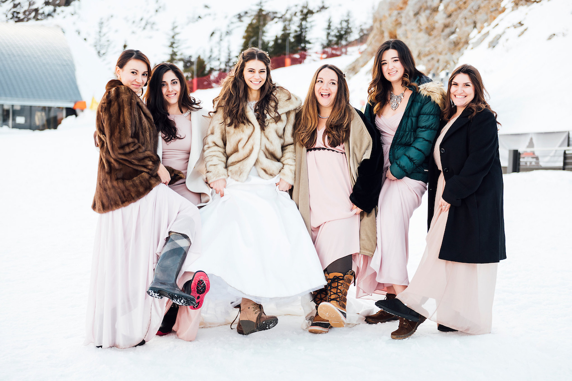 Charming Chamonix Winter Wedding With A Fur Coat – Katie Mitchell 35