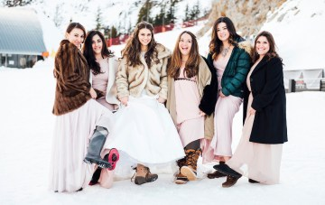 Charming Chamonix Winter Wedding (With A Bridal Faux Fur)