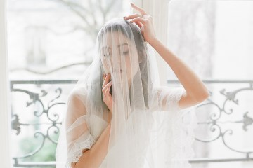 Elegant Blush Parisian Bridal Inspiration Featuring Luxurious Veils and Boudoir Ideas – Bonphotoge 51