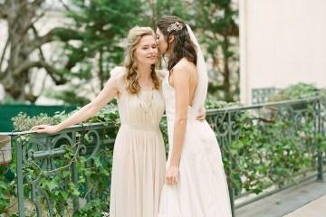Elegant Blush Parisian Bridal Inspiration Featuring Luxurious Veils and Boudoir Ideas – Bonphotoge 59