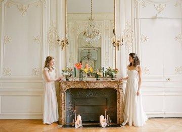 Elegant Blush Parisian Bridal Inspiration Featuring Luxurious Veils and Boudoir Ideas – Bonphotoge 68