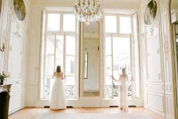 Elegant Blush Parisian Bridal Inspiration Featuring Luxurious Veils and Boudoir Ideas – Bonphotoge 69