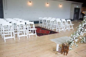 Trendy Loft Wedding Inspiration Featuring A Triangle Altar – Deluxe Blooms 3