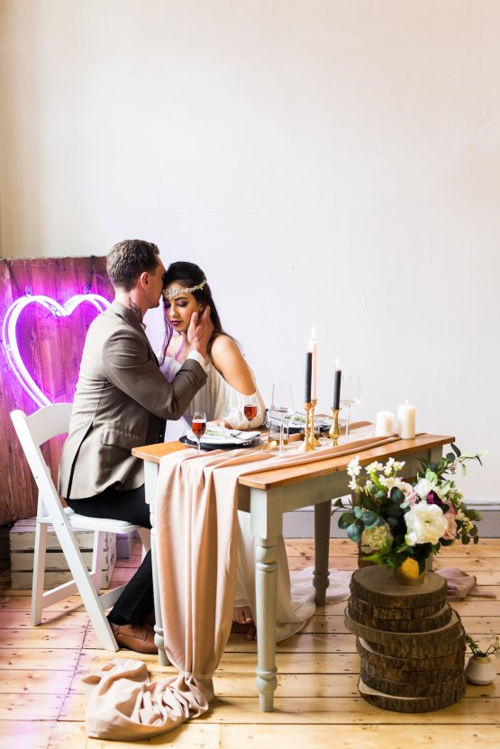 Trendy Loft Wedding Inspiration Featuring A Triangle Altar – Deluxe Blooms 50