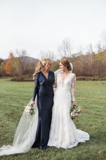 Warm Fall Catskills Wedding With Ceremony Sparklers – Christina Lilly Photography – Buds of Brooklyn 43