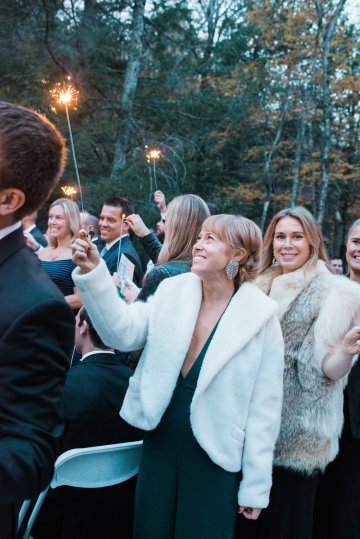 Warm Fall Catskills Wedding With Ceremony Sparklers – Christina Lilly Photography – Buds of Brooklyn 50