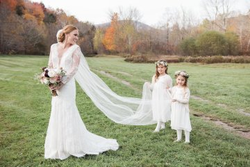 Warm Fall Catskills Wedding With Ceremony Sparklers – Christina Lilly Photography – Buds of Brooklyn 8