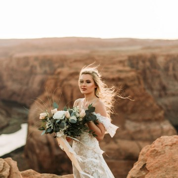 Wild and Bohemian Horseshoe Bend Wedidng Inspiration – Carmela Joy Photography – Luv Bridal 4