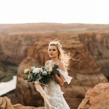 Wild and Bohemian Horseshoe Bend Wedidng Inspiration – Carmela Joy Photography – Luv Bridal 4