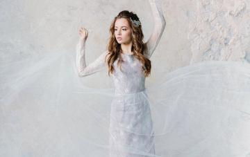 20 Romantic and Whimsical Wedding Dresses in Subtle Colors on Etsy – Tavifa Bridal – Lavender Purple Wedding Dress
