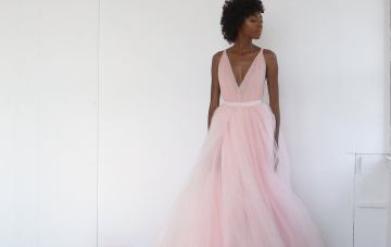 20 Romantic and Whimsical Wedding Dresses in Subtle Colors on Etsy – The Lotus Bloom Co – Blush Tulle Wedding Dress