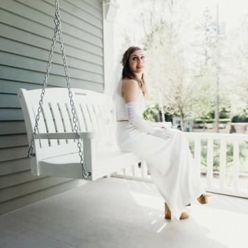 All-White Portland Photo Studio Wedding – Davis Hilton 13