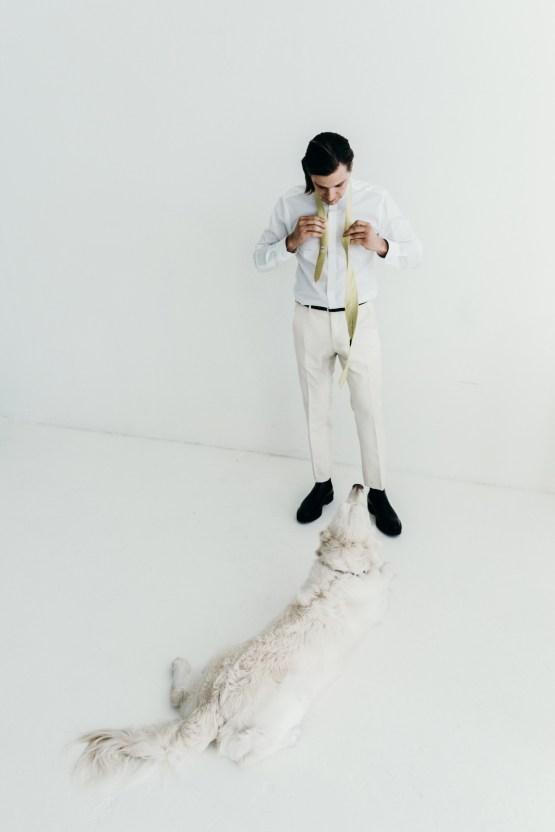 All-White Portland Photo Studio Wedding – Davis Hilton 22