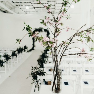 All-White Portland Photo Studio Wedding – Davis Hilton 24