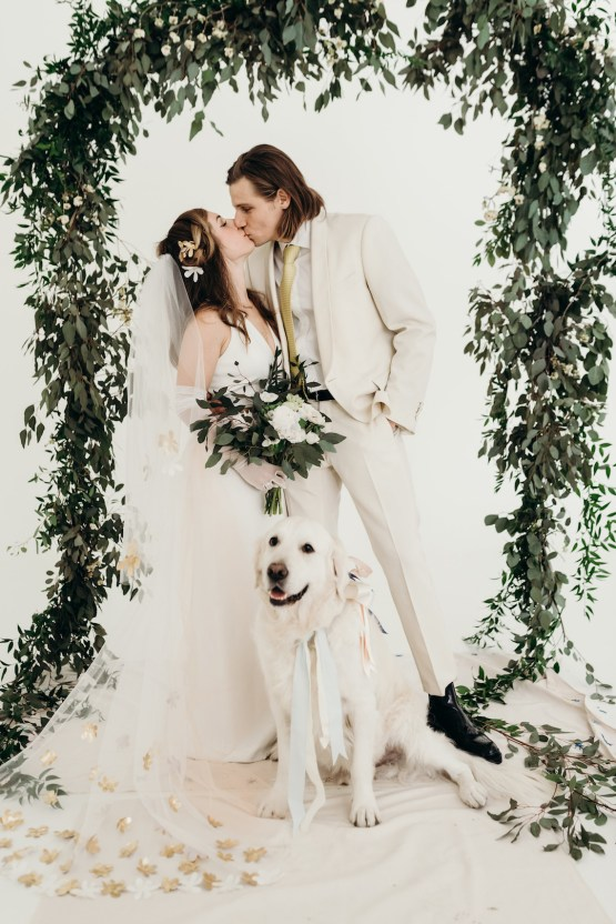 All-White Portland Photo Studio Wedding – Davis Hilton 47
