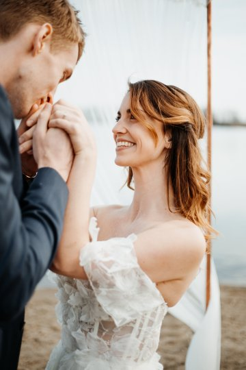 Beach Boho Wedding Inspiration With Agate Ideas – Stefanie Lange 25