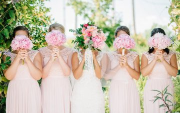 Colorful Florida Orange Grove Wedding