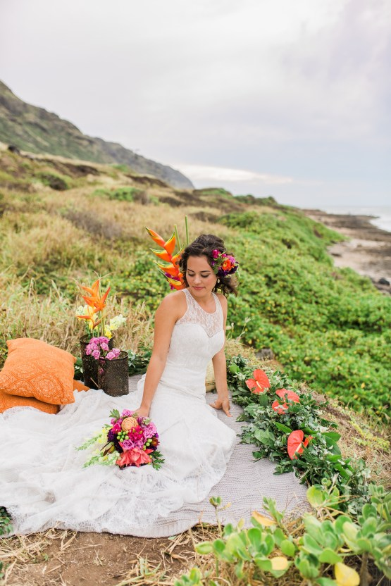 Colorful Hawaiian Boho Wedding Inspiration – Chelsea Stratso Photography 21