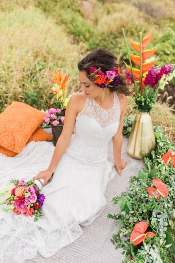 Colorful Hawaiian Boho Wedding Inspiration – Chelsea Stratso Photography 23
