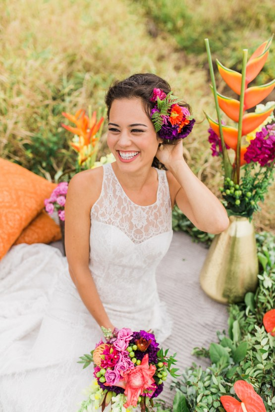 Colorful Hawaiian Boho Wedding Inspiration – Chelsea Stratso Photography 26