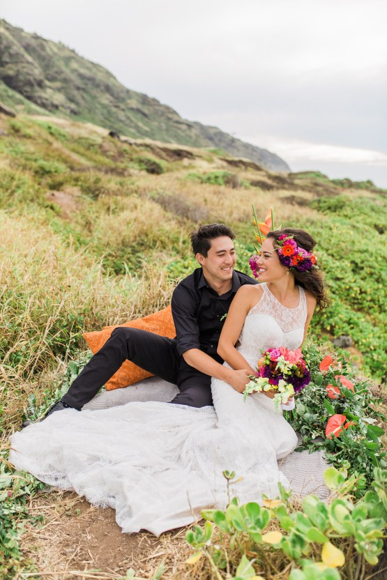 Colorful Hawaiian Boho Wedding Inspiration – Chelsea Stratso Photography 27