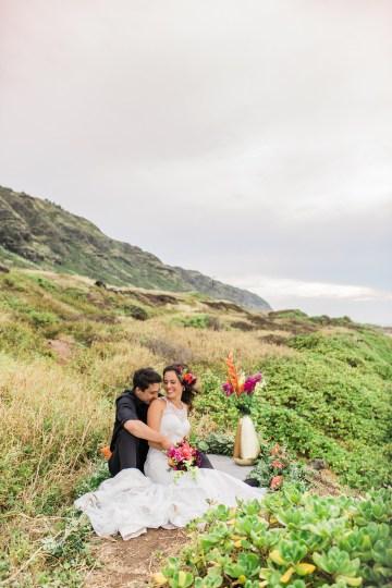 Colorful Hawaiian Boho Wedding Inspiration – Chelsea Stratso Photography 28