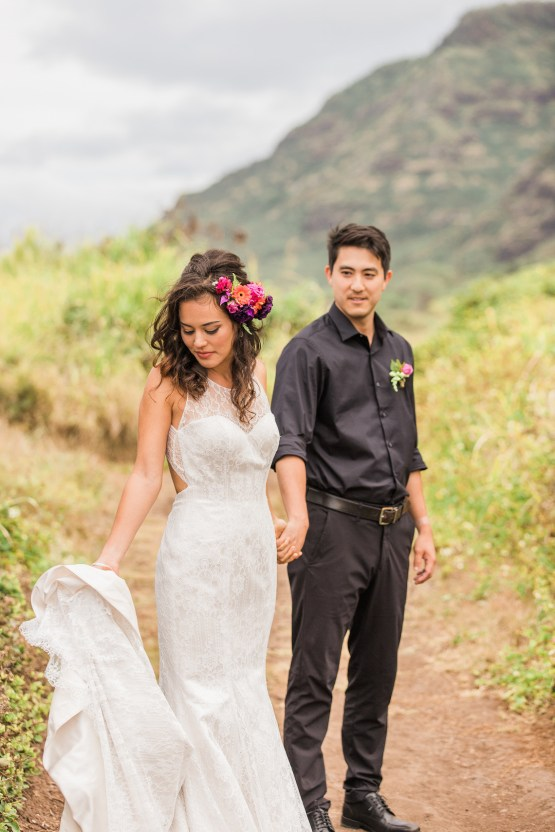 Colorful Hawaiian Boho Wedding Inspiration – Chelsea Stratso Photography 41