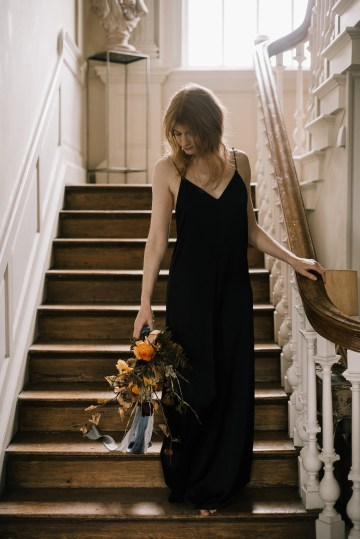 Dramatic Bridesmaid Inspiration With Fall Florals and A Black Jumpsuit – Georgina Harrison Photography 14