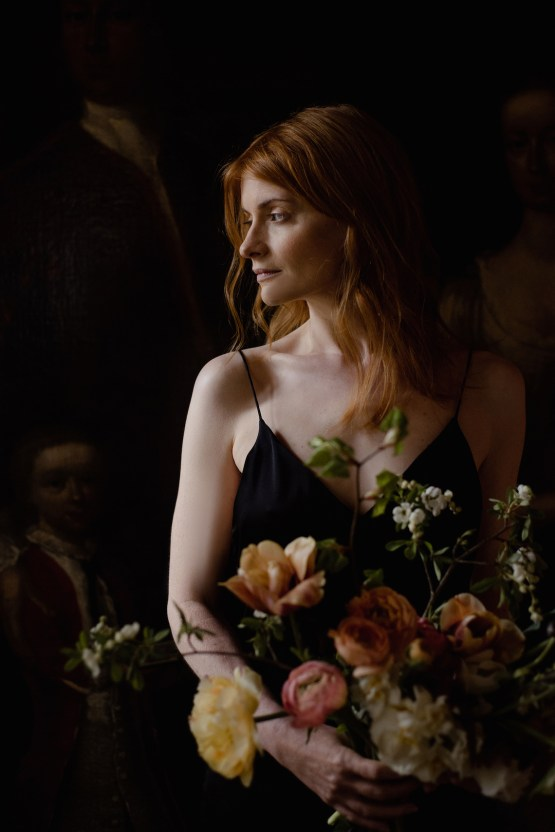 Dramatic Bridesmaid Inspiration With Fall Florals and A Black Jumpsuit – Georgina Harrison Photography 20