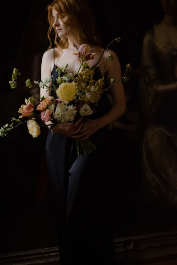 Dramatic Bridesmaid Inspiration With Fall Florals and A Black Jumpsuit – Georgina Harrison Photography 22