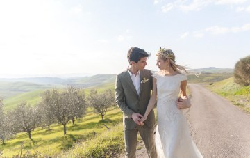 Vintage Rustic Wedding Inspiration From Tuscany (With Horses & Vespas!)