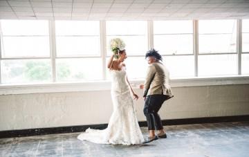 Sparkling, Black & Gold, City Chic Wedding