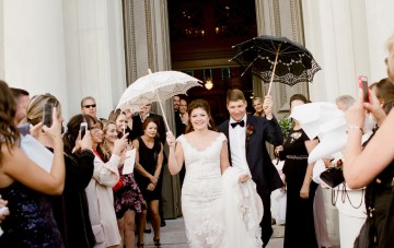 Classy & Festive New Orleans Wedding With A Brass Band Parade