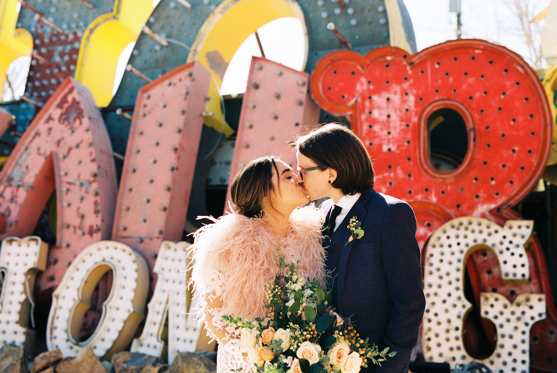 Hip and Colorful Las Vegas Neon Museum Wedding – Kristen Kay Photography 30