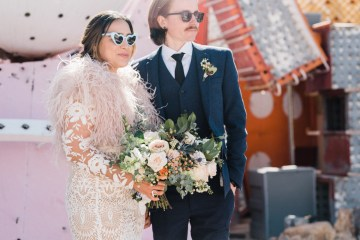 Hip and Colorful Las Vegas Neon Museum Wedding – Kristen Kay Photography 35