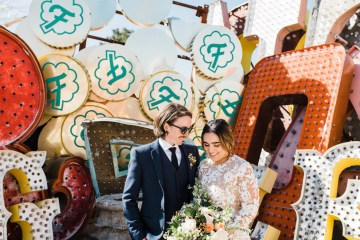 Hip and Colorful Las Vegas Neon Museum Wedding – Kristen Kay Photography 36