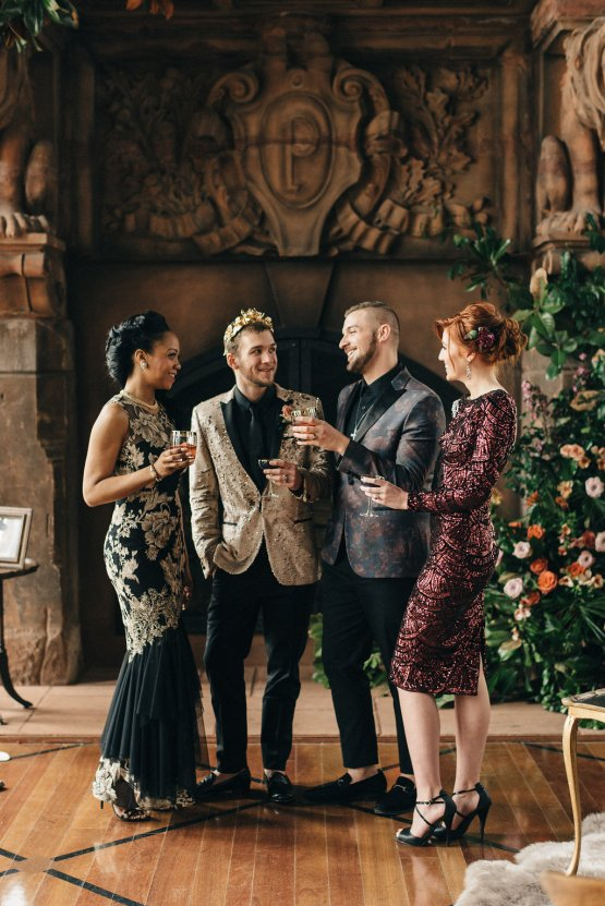 Luxe Mansion Wedding Inspiration Featuring Masculine Florals and Deep Tones – Alex Tenser – Swoon Soiree 29