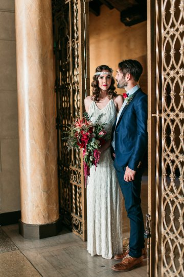 The Great Gatsby Art Deco Wedding Inspiration With Tropical Florals – Holly Castillo Photography 25
