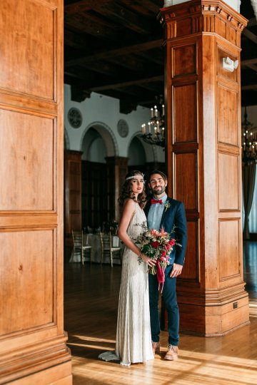 The Great Gatsby Art Deco Wedding Inspiration With Tropical Florals – Holly Castillo Photography 26